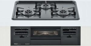 【リンナイ】【RS31W21H2R-BW】ビルトインコンロ|メタルトップシリーズ|ホーロートップ|無水両面焼グリル|3V乾電池電源|トップカラー:ダークグレー|天板幅60cm