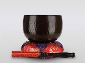大徳寺りん 3.5寸(直径約10.5cm)おりん・おりん座布団・りん棒セット