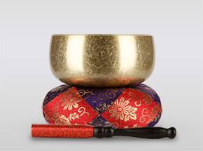 瑞竜りんバレル金メッキ 3.0寸(直径約9cm)おりん・おりん座布団・りん棒セット