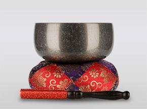 瑞竜りんバレル黒メッキ 3.5寸(直径約10.5cm)おりん・おりん座布団・りん棒セット