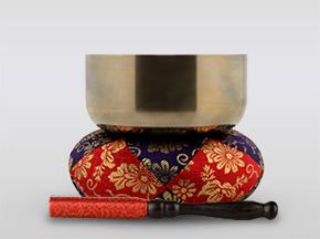 勘三郎りん 3.0寸(直径約9cm)おりん・おりん座布団・りん棒セット