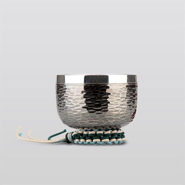銀製おりん 御座目打イブシセット 1.8寸(直径約5.3cm)おりん・おりん座布団