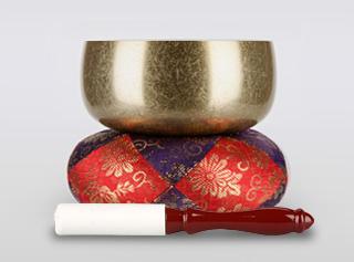 瑞竜りんバレル金メッキ 3.5寸(直径約10.5cm)おりん・おりん座布団・白皮りん棒セット