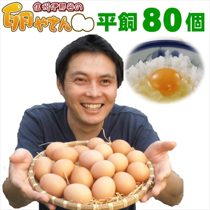 新品未使用正規品 サルモネラ検査済 で安心 にもOK 本州 smtb-t 平飼い卵80個 送料無料 四国 安心の実績 高価 買取 強化中