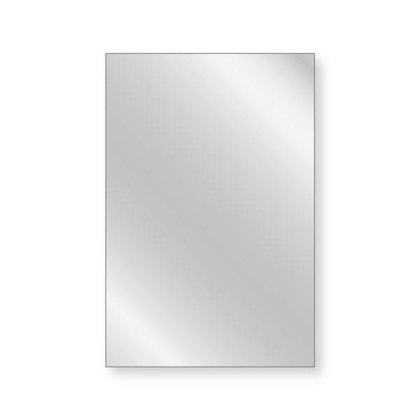 軽くて丈夫 割れない鏡 アルミミラー 400×600mm 厚み3mm 取付部材セット 枠無し DIY 一人暮らし シンプル おしゃれ アルミ 壁掛け 貼り付け 壁 軽量 丁寧梱包 運送保証 お客様が割っても保証 オーダーガラス板.COM