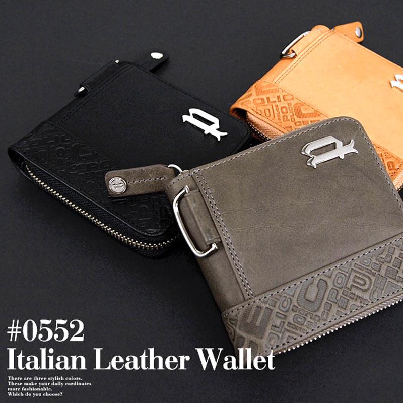 ポリス POLICE ラウンドファスナー 二つ折り財布 財布 イタリアンヌメ 0552/PA-6102