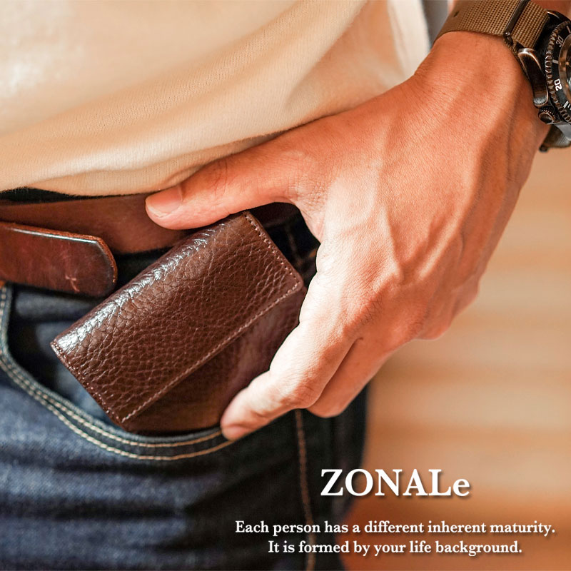 ゾナール ZONALe イタリアンレザー三つ折りミニ財布 アンディ ANDY 31131