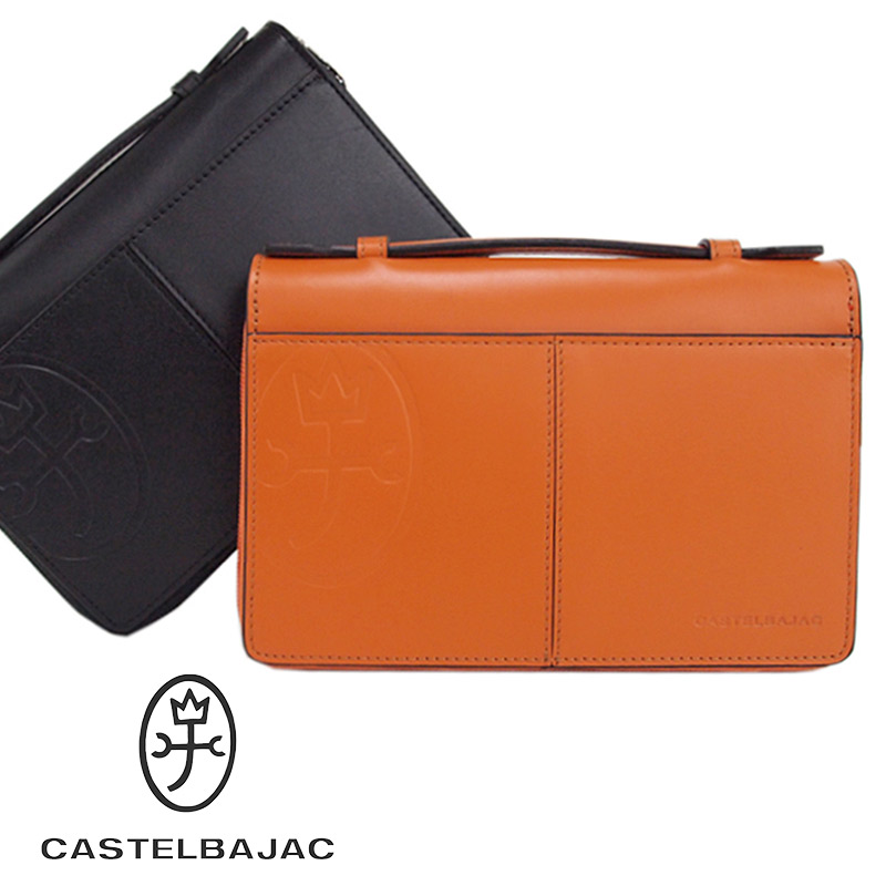 カステルバジャック CASTELBAJAC セカンドバッグ 薄マチマルチケース Wファスナー 24cm tirier トリエ 164205