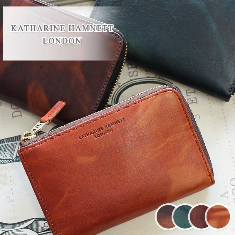 キャサリンハムネット KATHARINE HAMNETT LONDON L字ファスナー二つ折り財布 財布 FLUID フルード 490-59202