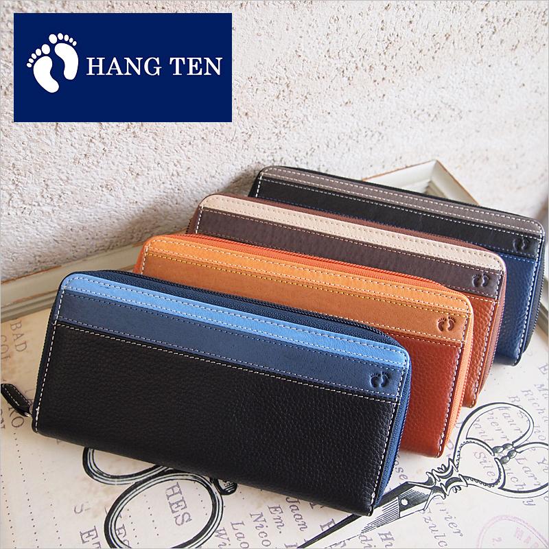 ハンテン HANG TEN ラウンドファスナー長財布 財布 61HT02【メール便配送商品】