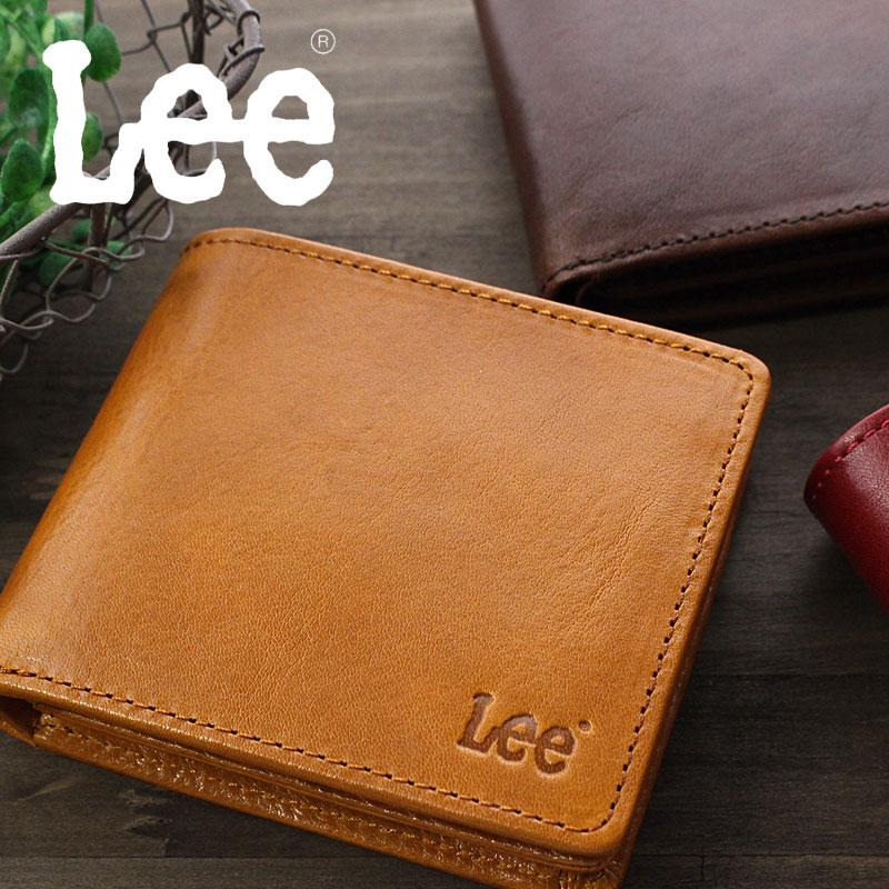 Lee リー BOOK型二つ折り財布 財布 イタリアンレザー 0520234【メール便配送商品】本革 メンズ レディース ブランド シンプル おしゃれ