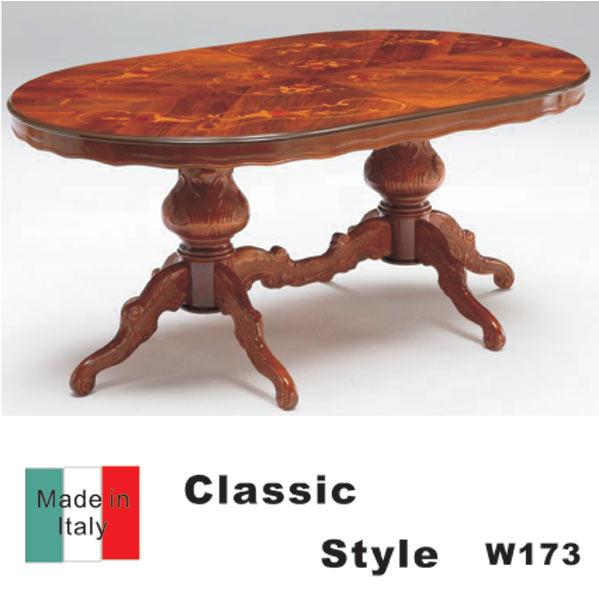 ダイニングテーブル センターテーブル 天然木 北欧 クラッシック 象嵌 幅173