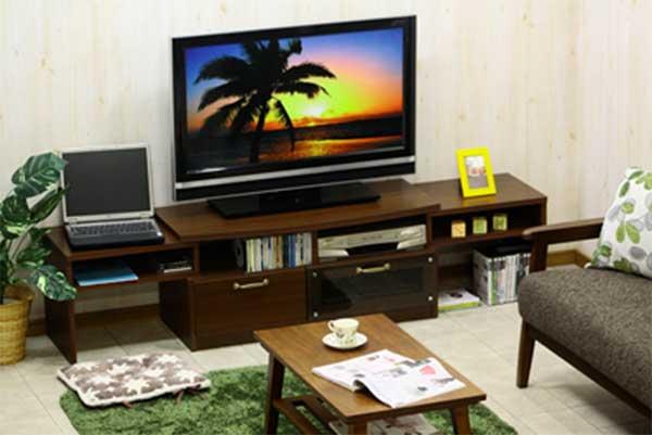 テレビ台 テレビボード 完成品 伸張式 日本製 北欧 モダン ローボード TV台 アウトレット価格 大川家具
