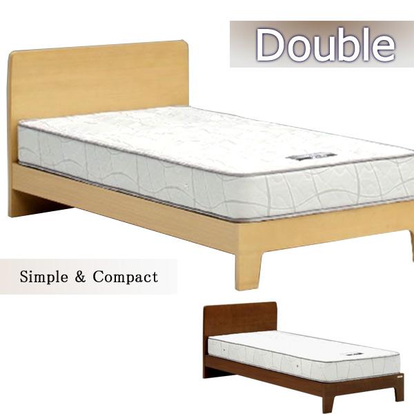 ベッド ダブルベッド すのこベッド フレームのみ 北欧モダン