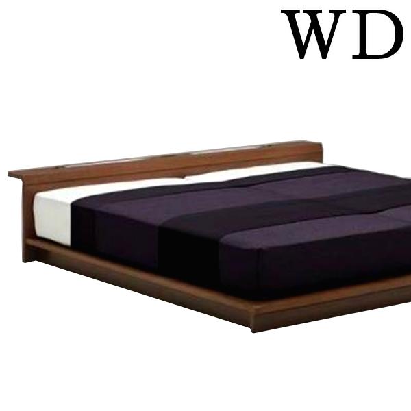 ローベッド フロアベッド ワイドダブル すのこベッド LED 北欧 モダン ロータイプ