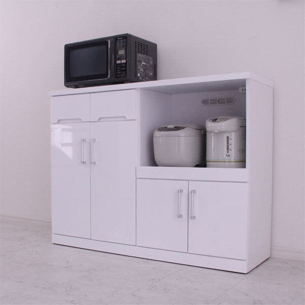 キッチンカウンター キッチン収納 レンジ台 完成品 120