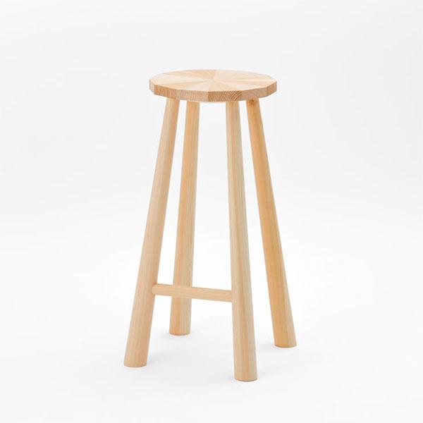 ハイスツール 高さ72cm イス 椅子 ヒノキ製 日本製【代引不可】【受注生産】