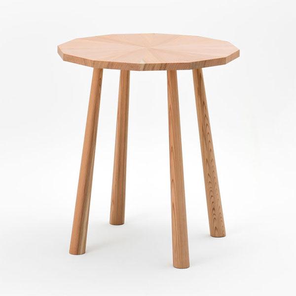 カフェテーブル 丸 円 64cm スギ製 日本製 完成品【代引不可】【受注生産】