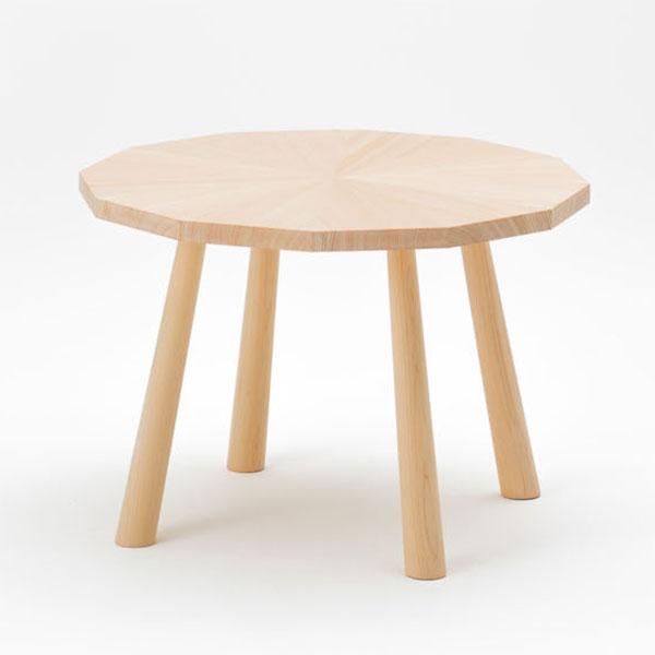 ラウンジテーブル 幅64センチ 円形 丸 天然木 ヒノキ製 日本製【代引不可】【受注生産】