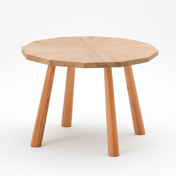 ラウンジテーブル 丸テーブル 幅64センチ 天然木 スギ製 杉 日本製【代引不可】【受注生産】