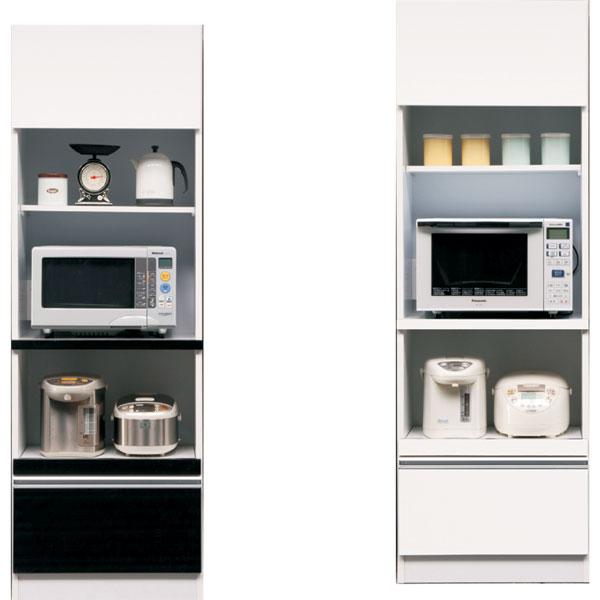 食器棚 キッチン収納家具 カウンター 木製 60 コンセント付き 選べる ホワイト ブラウン おしゃれ お洒落 ベーシック 完成品