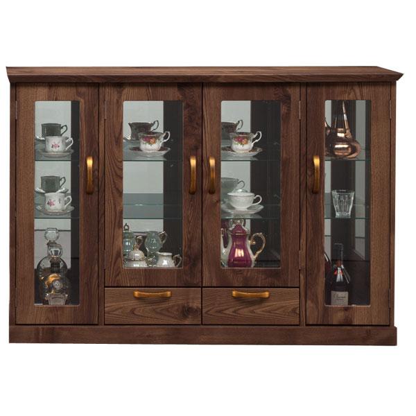 コレクションボード キュリオケース 幅130 完成品 サイドボード フィギュアラック 北欧ティスト シンプル モダン 飾り棚