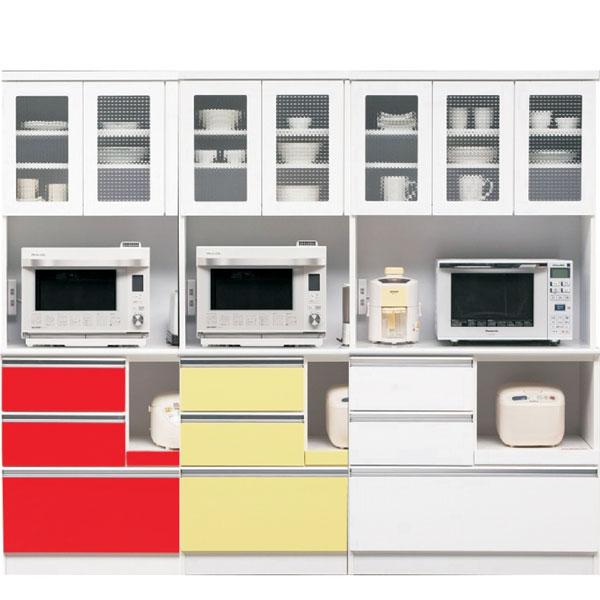 食器棚 キッチン収納家具 カウンター レンジ台 木製 90 コンセント付き 選べる