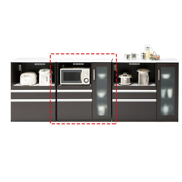 キッチン収納家具 カウンター 木製 85 キッチンカウンター コンセント付き