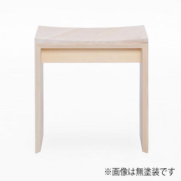 スツール ヒノキ製 幅44cm 天然木 日本製 チェア 椅子 背もたれ無し【代引不可】【受注生産】