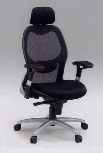 チェアー/チェア/オフイス用/事務用/ D8002ZーB(ヘッド付き) オフィスチェアー