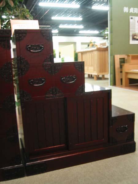 民芸家具(和風 和モダン)和タンス/民芸調 家具 木製 階段右下がり/左下がり