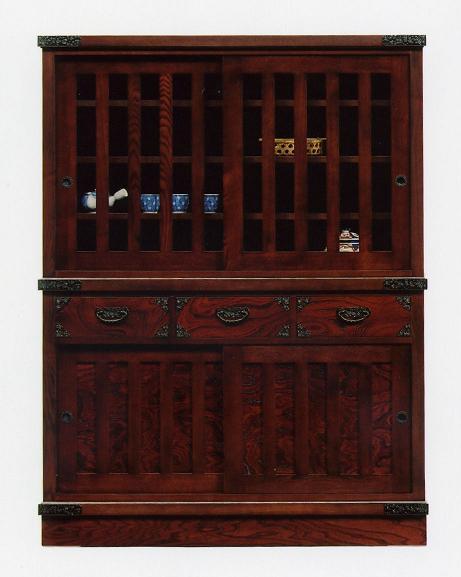 民芸家具(和風 和モダン)和タンス(キャビネット サイドボード) 木製 【 開梱設置無料 】 水屋121