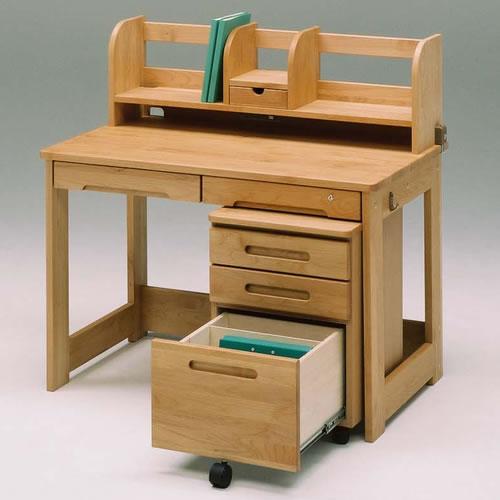 学習机/日本製/デスク/ナチュラル 木製 学習デスク110ブックスタンド106 ナチュラル