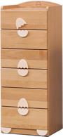 子供用家具/キッズ家具/日本製/低ホルムアルデヒド 木製 エッグ45-6 ハイチェスト