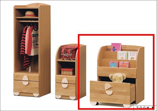 子供用家具/キッズ家具/日本製/低ホルムアルデヒド 木製 エッグ60 おもちゃ箱 ナチュラル