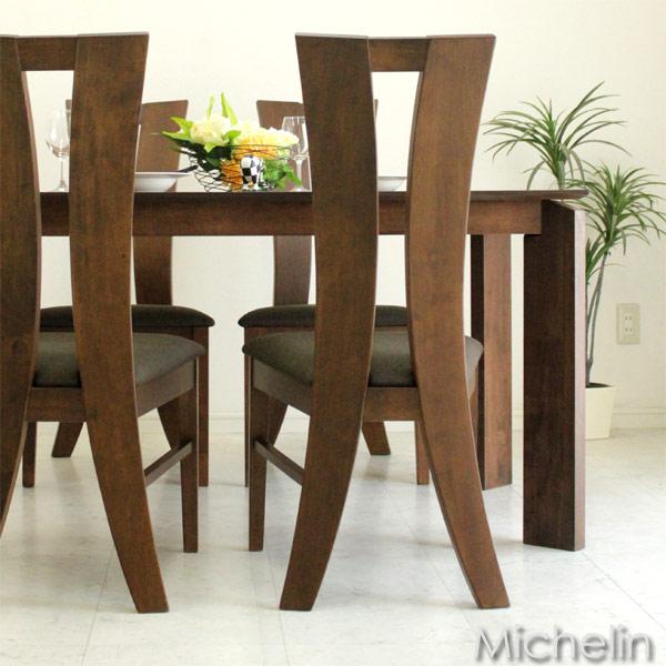 ダイニングテーブルセット 4人用 4人掛け 5点セット 食卓セット ダークブラウン シンプル (北欧 ミッドセンチュリー) カフェ 人気 おしゃれ 【送料無料】