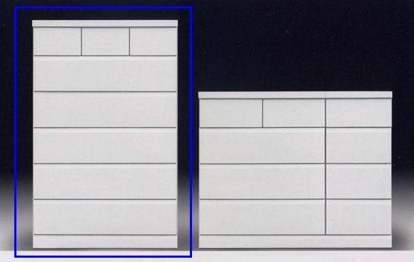 ハイチェスト/ホワイト/たんす/整理ダンス 木製 アリビオ 90ハイチェスト ホワイト/ナチュラル/ダークブラウン
