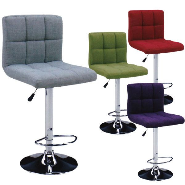 バーチェア カウンターチェア カウンター 椅子 チェアー バーカウンター シンプル モダン ベーシック 北欧 スタイリッシュ ハイチェア スツール グレー グリーン レッド パープル 4色