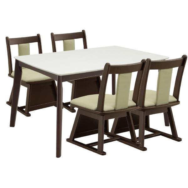ハイタイプこたつ ダイニングこたつセット こたつ テーブル 長方形 チェア 回転式チェア 布団 掛布団 幅120cm リビング 肘無し ホワイト 白 シンプル モダン アウトレット並みの低価格