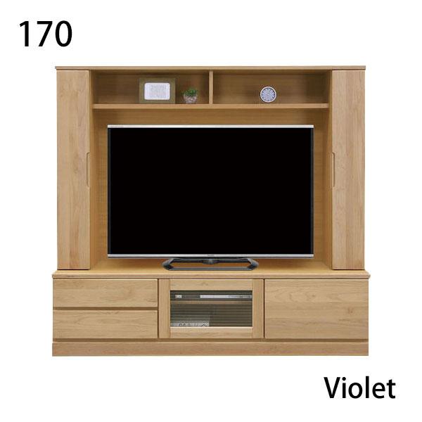 壁面テレビ台 幅170cm 高さ160cm ハイタイプ テレビ台 テレビボード アルダー ウレタン樹脂塗装 壁面収納 引出 フルオープンレール スローダウンステー ナチュラル 北欧 モダン 木製 シンプル ベーシック 大型