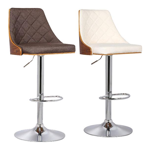 バーチェア カウンターチェア 椅子 チェアー カウンター バーカウンター ファブリック 1脚 シンプル モダン ベーシック 北欧 スタイリッシュ ハイチェア スツール ブラウン アイボリー 2色