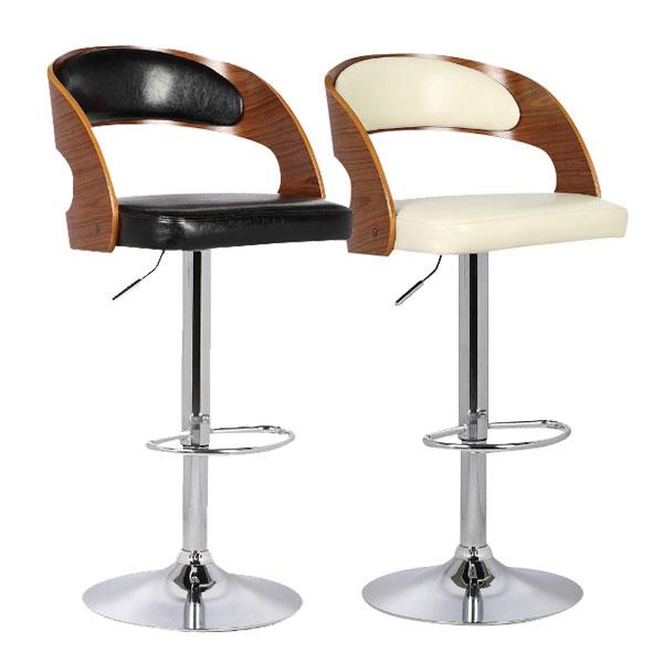 バーチェア カウンターチェア バーカウンター チェアー 椅子 カウンター PU シンプル モダン 1脚 ベーシック 北欧 スタイリッシュ ハイチェア スツール ブラック アイボリー 2色