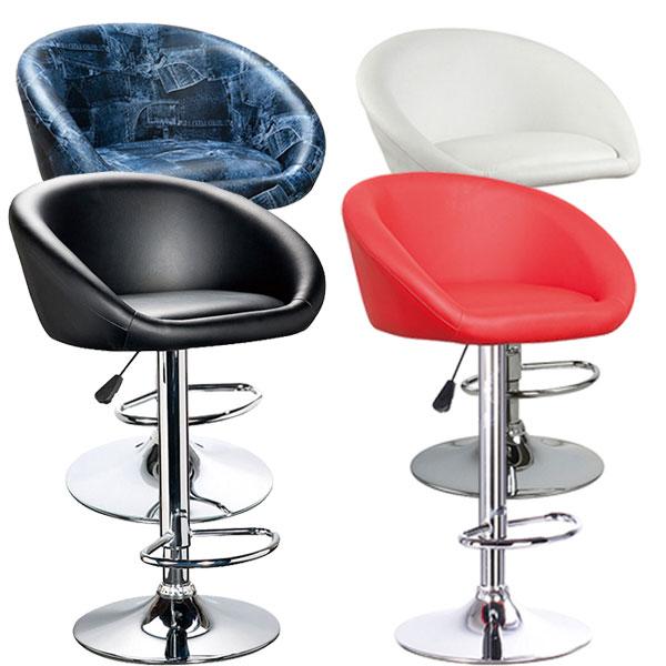 バーチェア カウンターチェア バーカウンター チェアー 椅子 カウンター ALL PU シンプル モダン 1脚 ベーシック 北欧 スタイリッシュ ハイチェア スツール ブラック ホワイト レッド デニム 4色