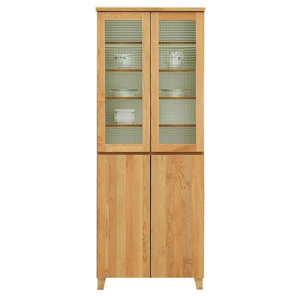 木目調 食器棚 ダイニングボード 幅70cm 高さ180 ハイタイプ ナチュラル 開戸 可動棚 引き出し 北欧 モダン シンプル 日本製 完成品