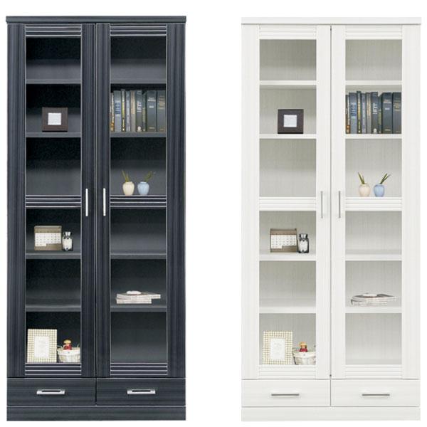【 開梱設置無料 】本棚 書棚 キャビネット 飾り棚 ブックシェルフ 木製 幅80cm フリーボード 送料無料