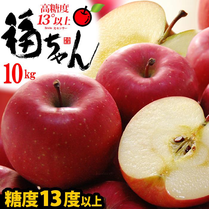 サンふじ 福ちゃんりんご(約10kg)青森産 サンふじりんご 特秀 糖度14度以上選果 大玉 ギフト 贈答用 高級 サンフジりんご さんふじりんご リンゴ 林檎 食品 フルーツ 果物 りんご サンふじ 高糖度 甘い 青森りんご 送料無料