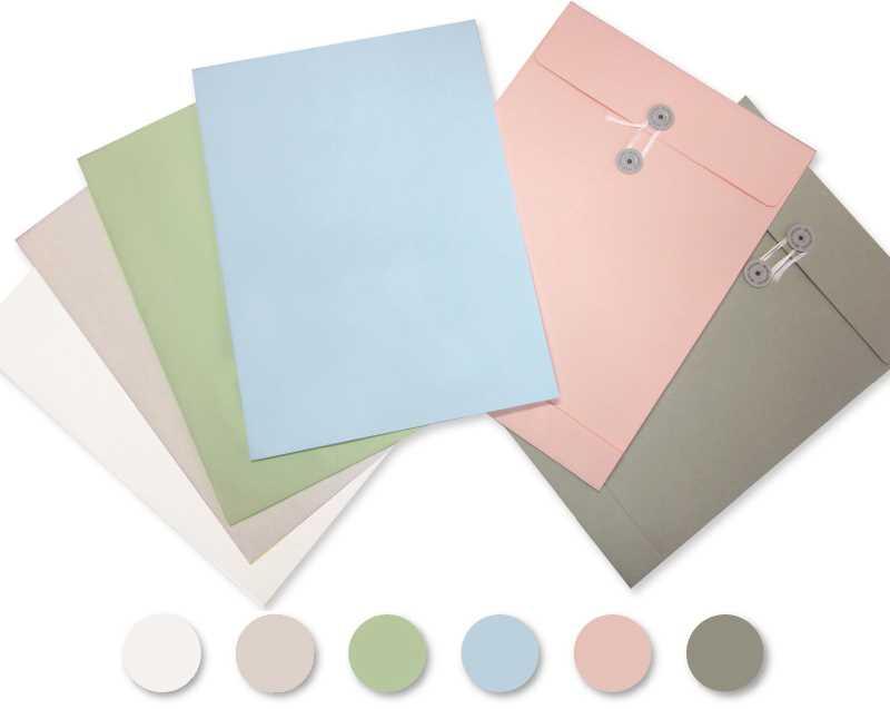名入れ印刷 50枚 封筒 角2 ピンク ハトメ紐付き マチ付き 120g/m2 BK2-572
