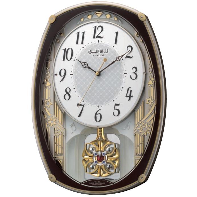 RHYTHM 電波掛け時計 スモールワールドレジーナメロディ18曲付 送料無料(13)