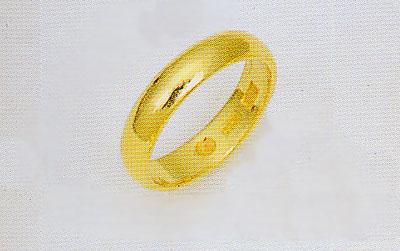純金 K24 無垢 甲丸無地リング 結婚指輪 ブライダルリング エンゲージリング マリッチリング 4.0mm幅均一 送料無料