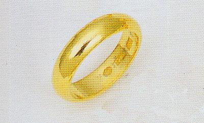 K24 純金 無垢 甲丸無地リング K24 結婚指輪 4.5mm 幅均一 ブライダルリング マリッチリング エンゲージリング 送料無料